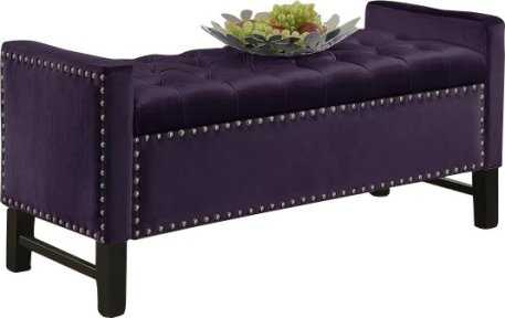 Carlie+Upholstered+Storage+Bench
